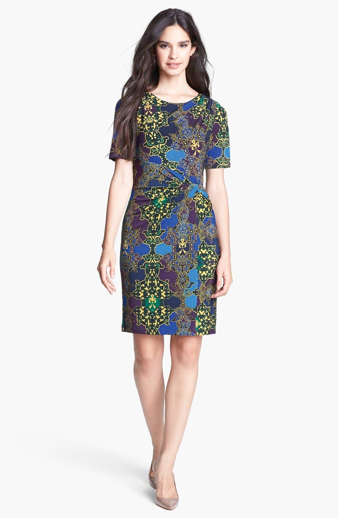 Main Image - Ellen Tracy Print Side Twist Dress