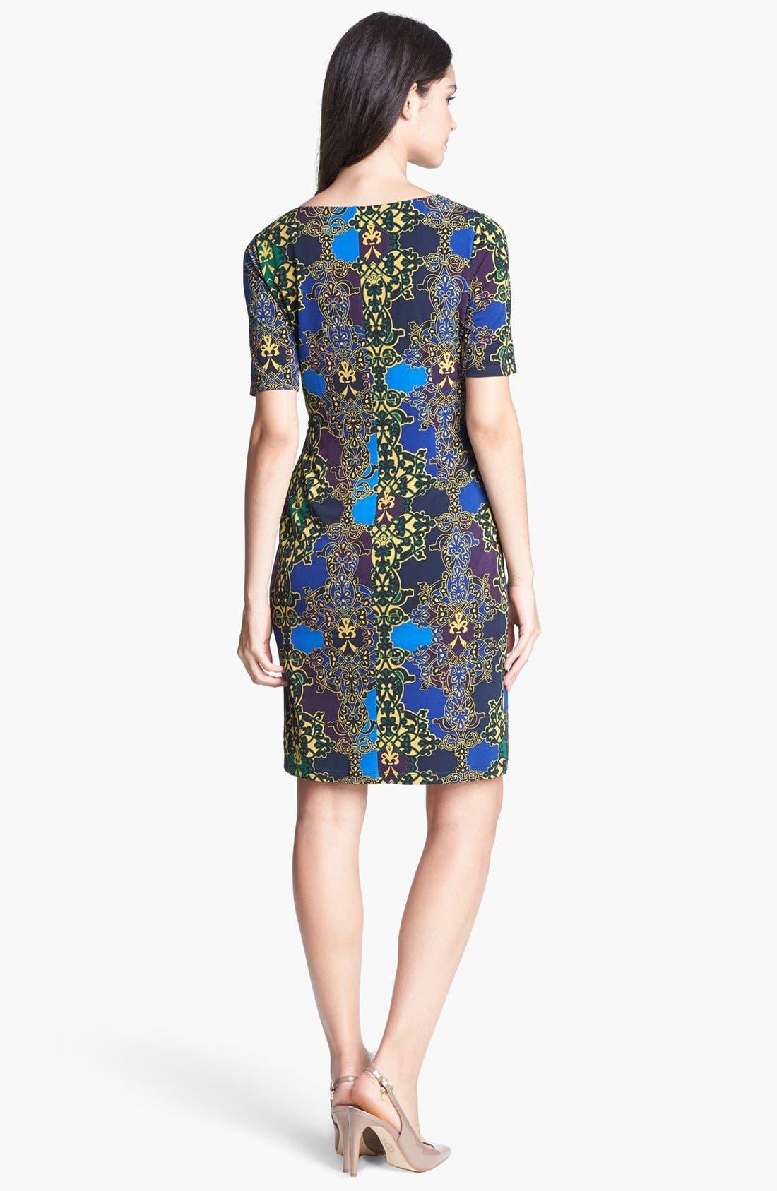 Alternate Image 2  - Ellen Tracy Print Side Twist Dress