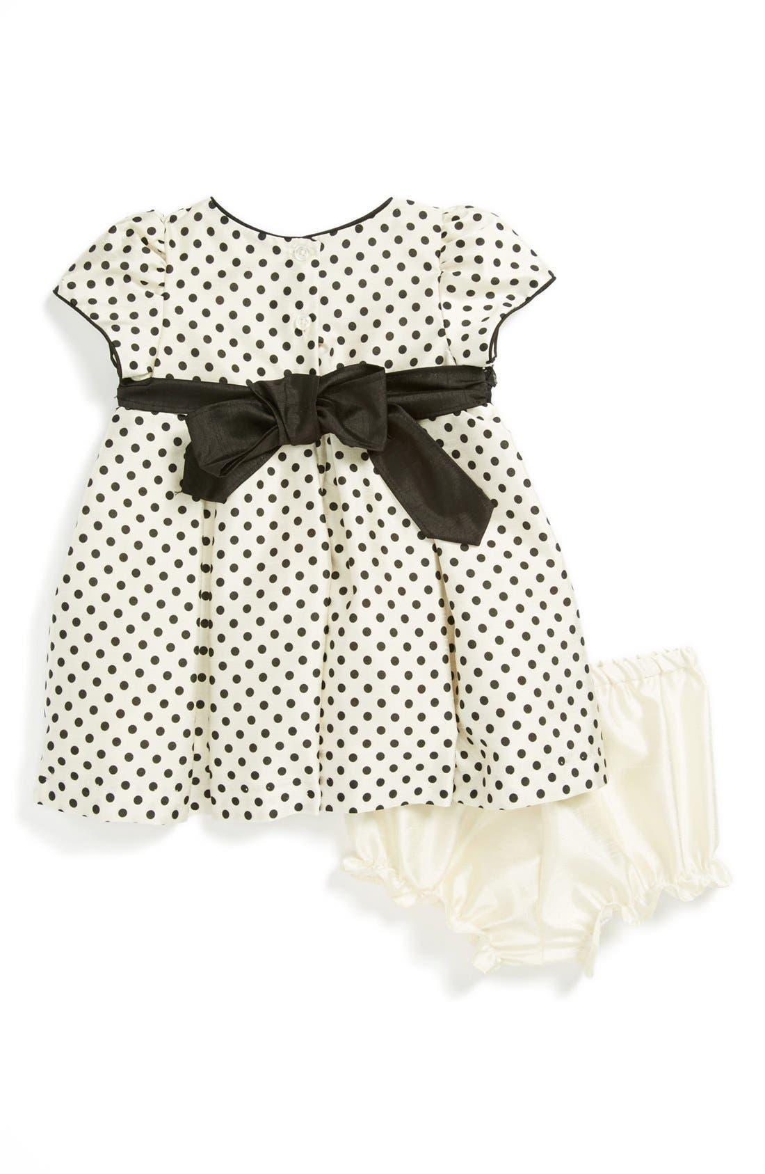 Alternate Image 2  - Pippa & Julie Dress & Bloomers (Baby Girls)