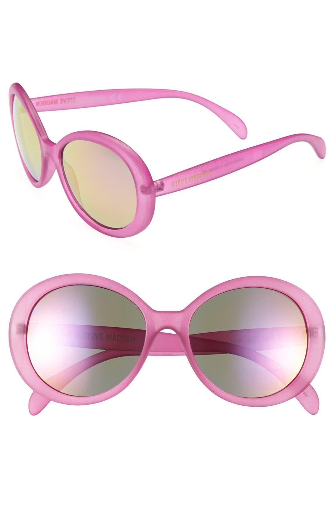 Alternate Image 1 Selected - Steve Madden 65mm Round Sunglasses