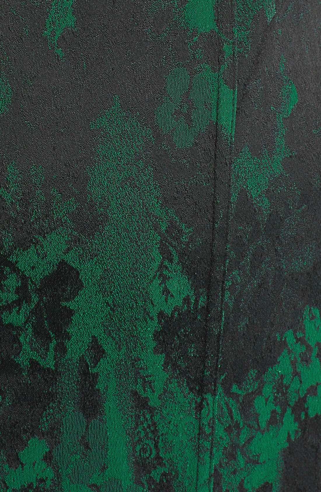 Alternate Image 3  - Aidan Mattox Lace Neckline Jacquard Sheath Dress