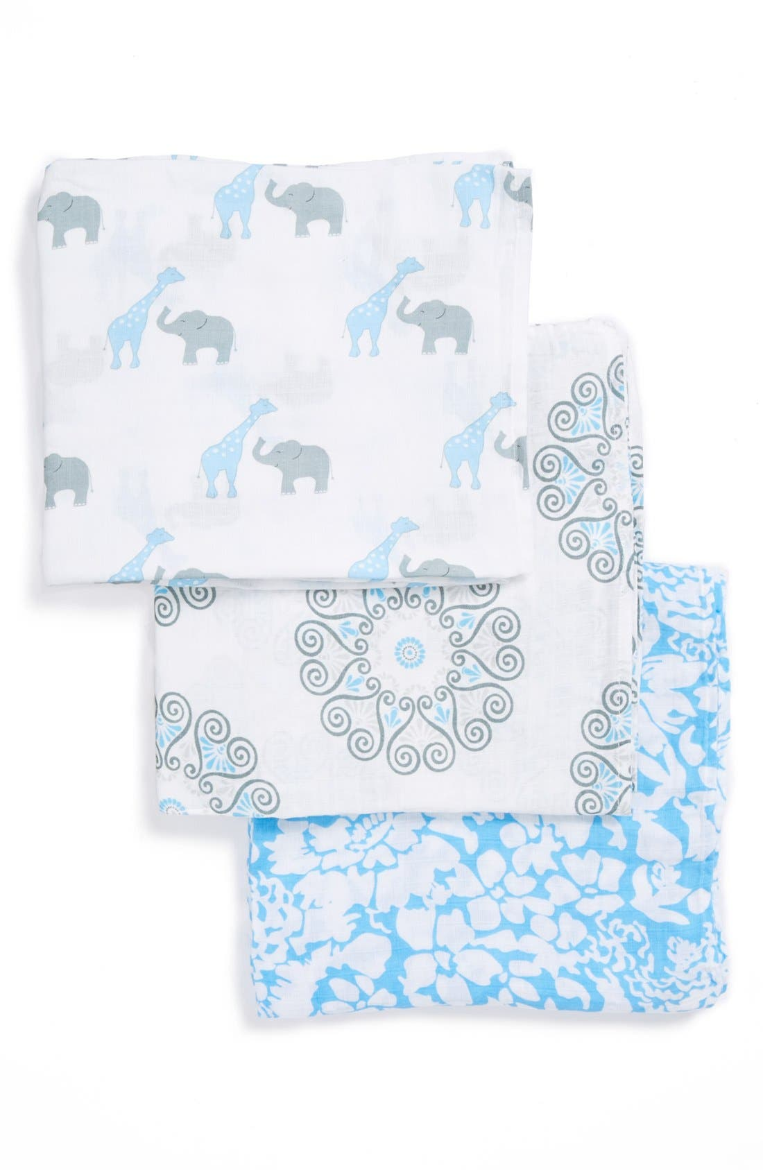 Alternate Image 2  - Swaddle Designs 'Swaddle Lite - Lush' Marquisette Blanket (Set of 3)