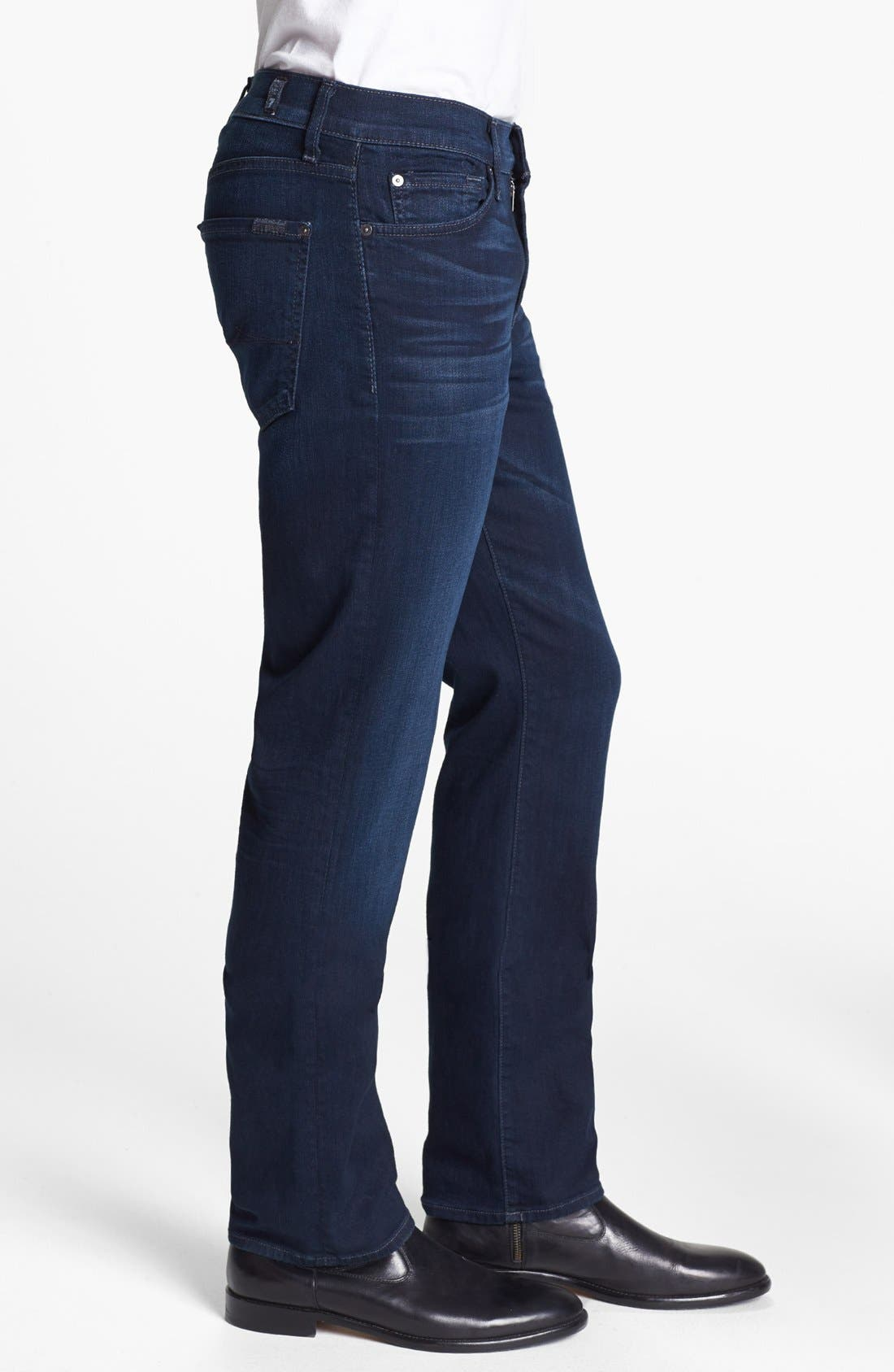 Alternate Image 3  - 7 For All Mankind® 'Slimmy - Luxe Performance' Slim Fit Jeans (Blue Ice)