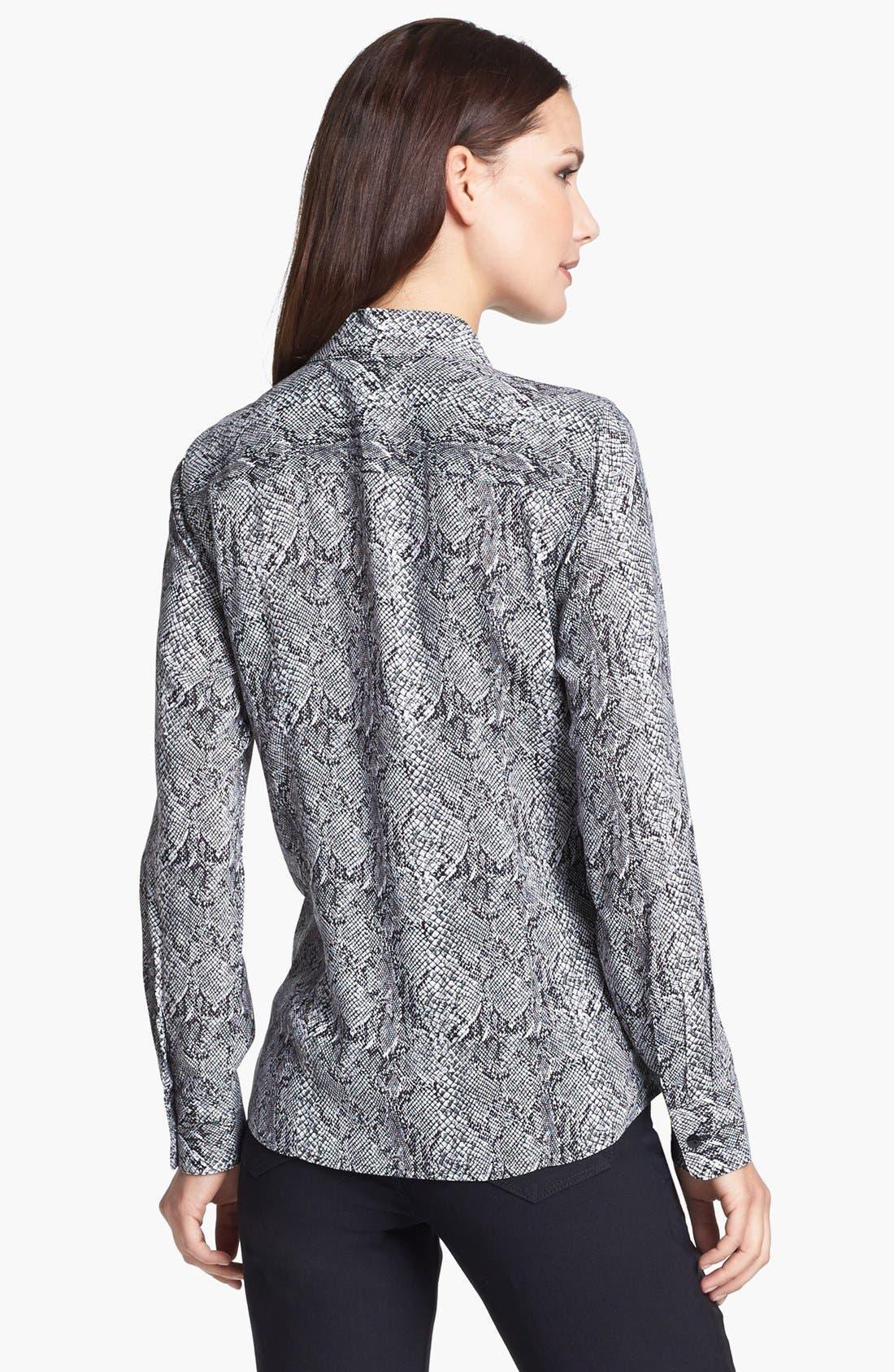 Alternate Image 2  - Foxcroft 'Silver Snake' Shirt (Petite)
