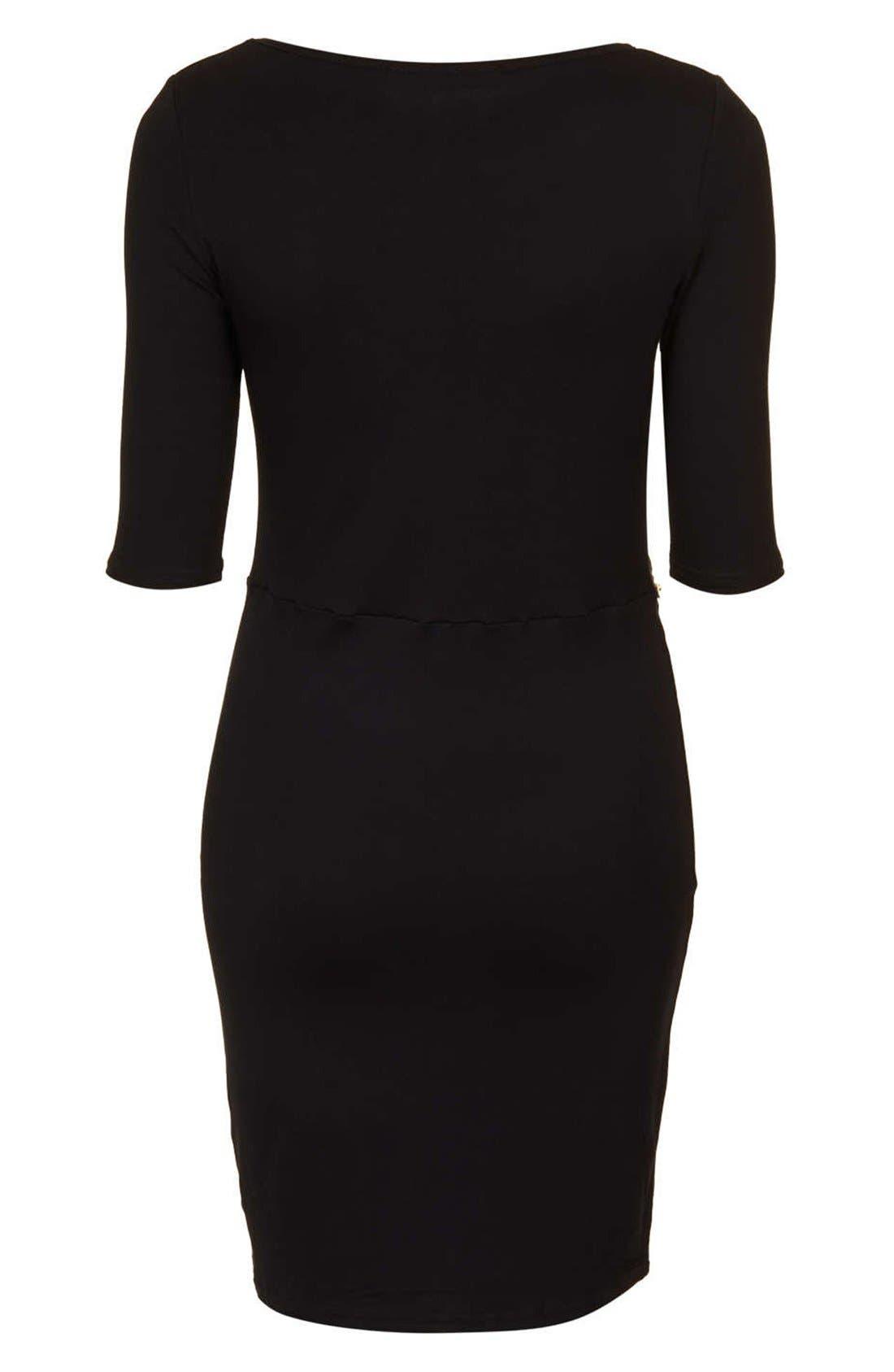 Alternate Image 2  - Topshop Zip Waist Body-Con Dress