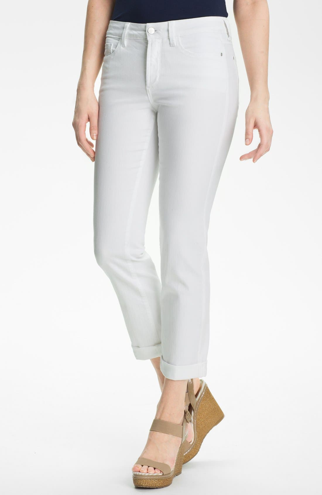 Alternate Image 1 Selected - NYDJ 'Tanya' Stretch Boyfriend Jeans (Petite)