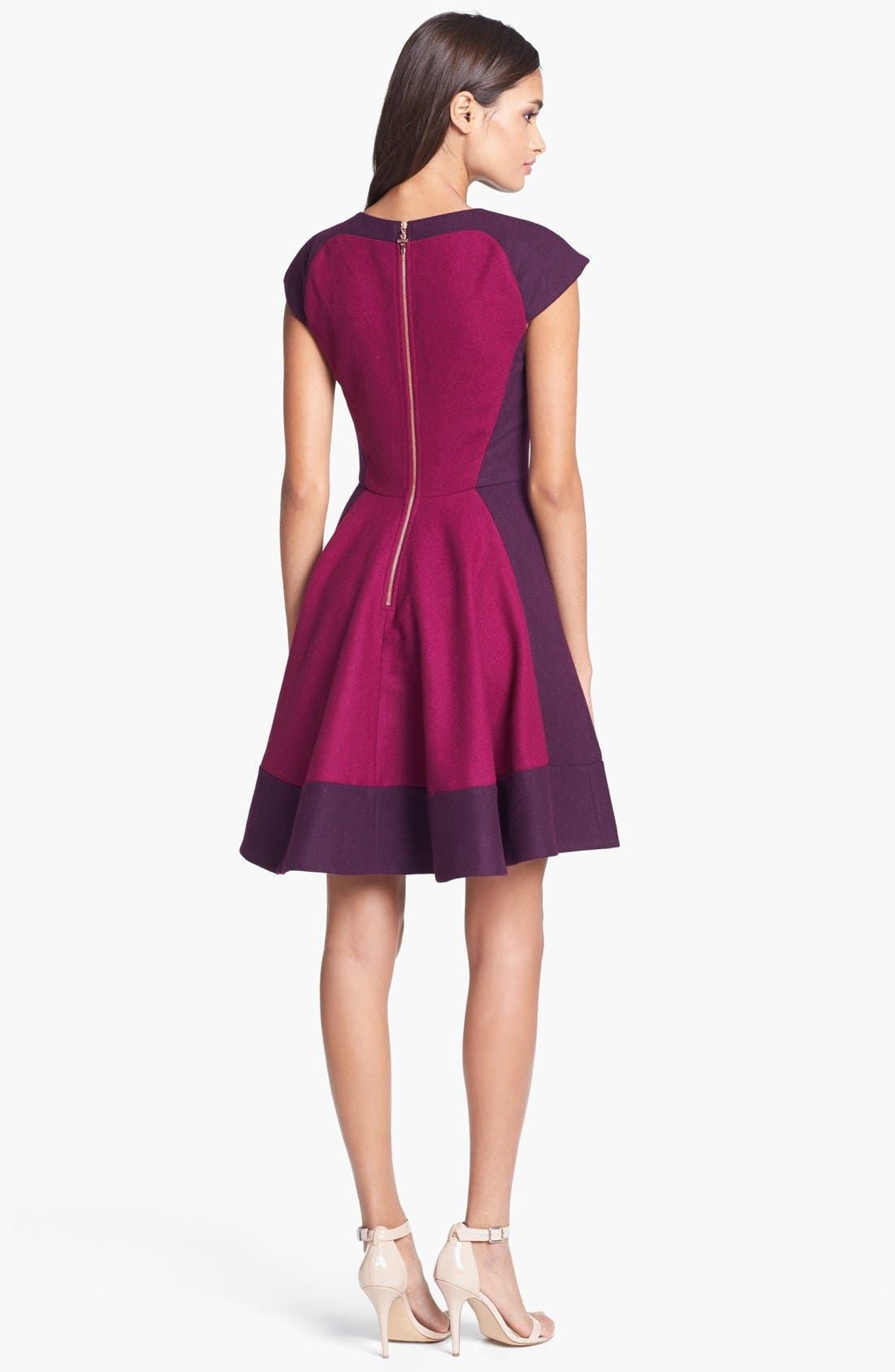 Alternate Image 2  - Ted Baker London Colorblock Woven A-Line Dress