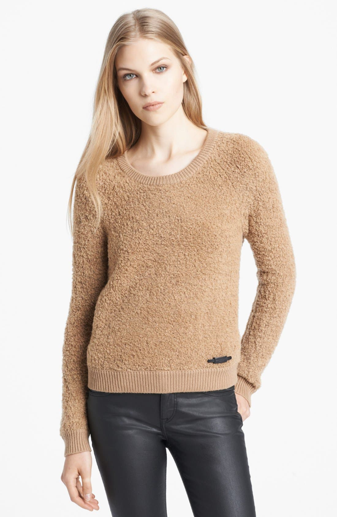 Alternate Image 1 Selected - Burberry Brit Textured Merino Blend Sweater