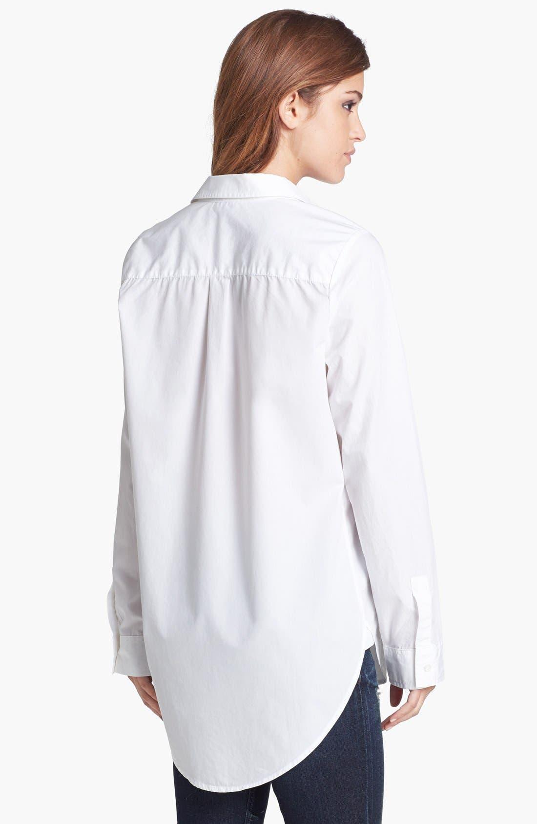 Alternate Image 2  - Tildon 'Clean' Oversized Button-Up Shirt