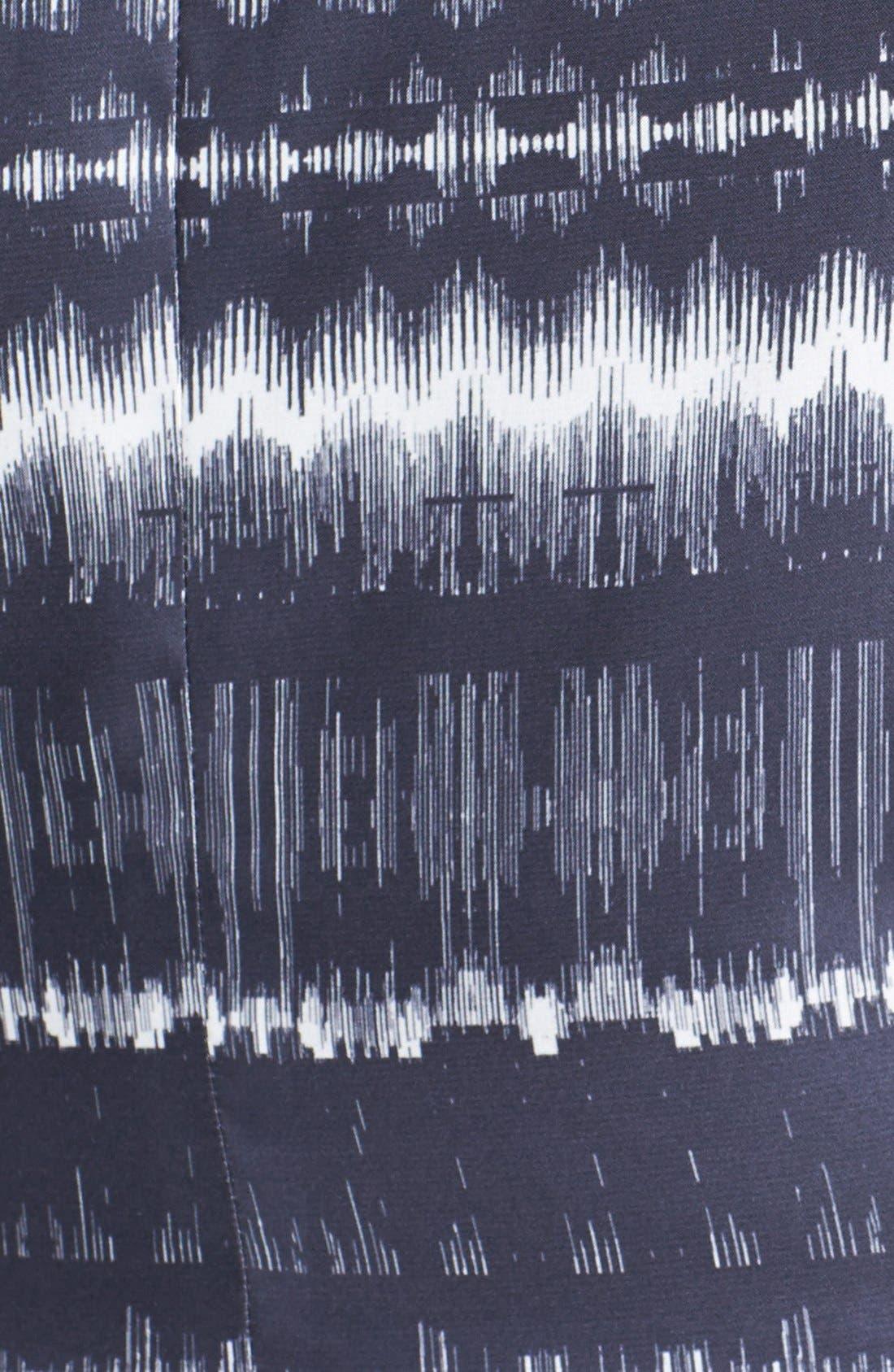 Alternate Image 3  - BB Dakota 'Electricity' Print Crepe Fit & Flare Dress (Plus Size)