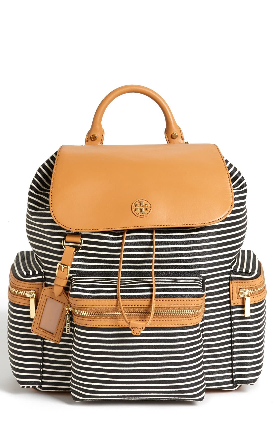 Alternate Image 1 Selected - Tory Burch 'Viva' Canvas & Leather Backpack