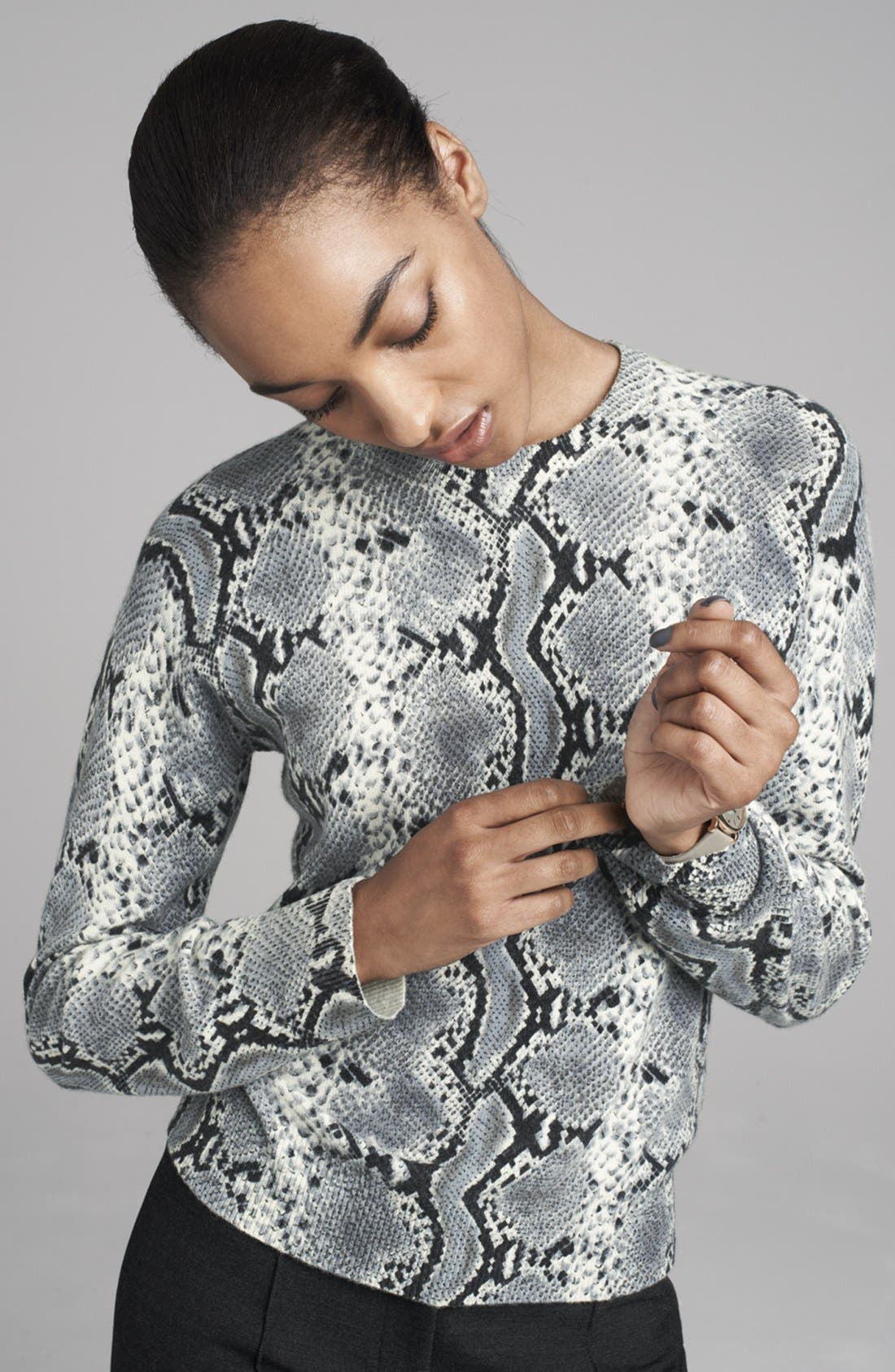 Alternate Image 4  - Pure Amici Snake Print Cashmere Sweater