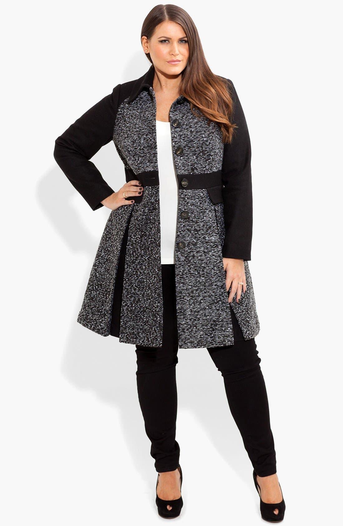 Alternate Image 3  - City Chic Bouclé Fit & Flare Jacket (Plus Size)
