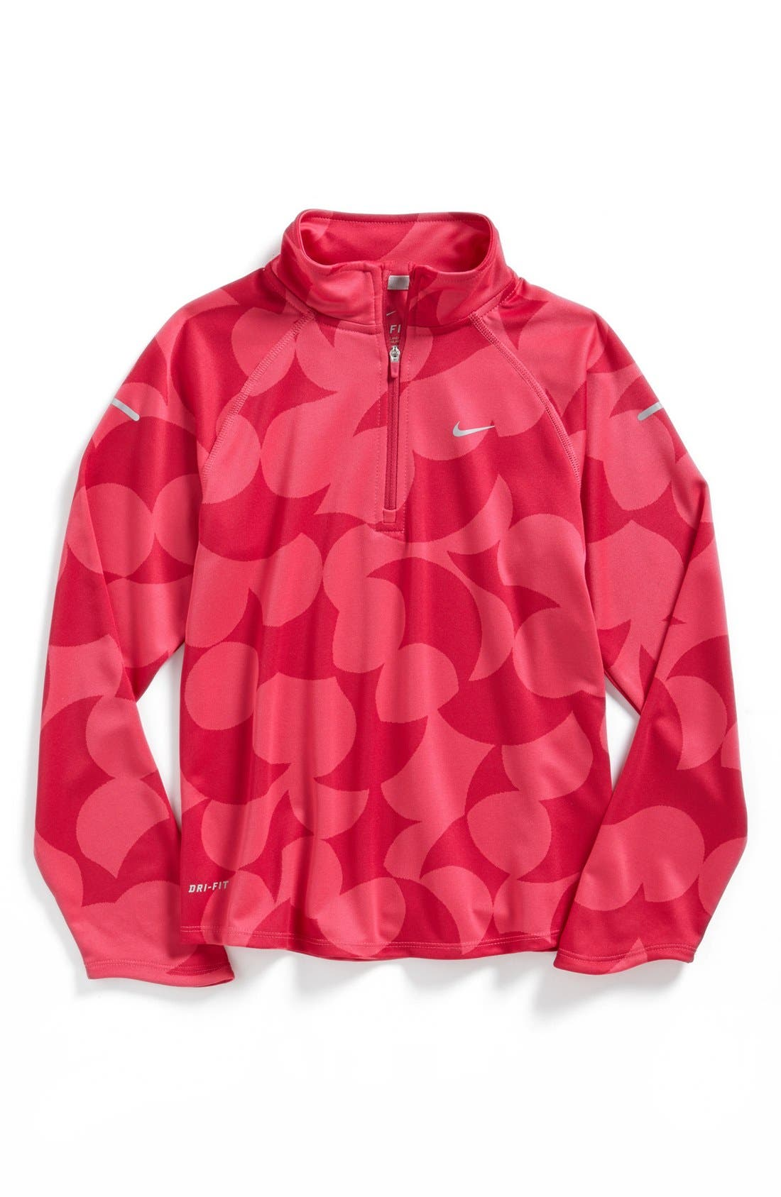 Alternate Image 1 Selected - Nike 'Element' Dri-FIT Half Zip Running Top (Big Girls)
