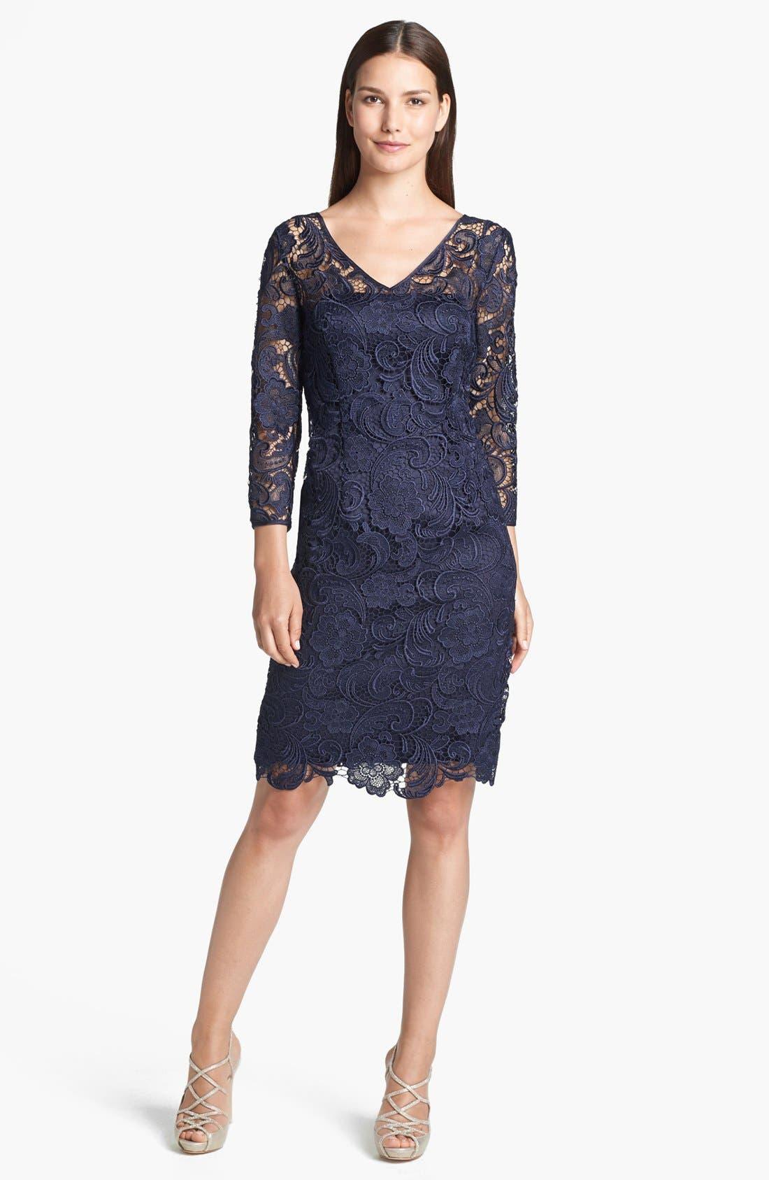 Main Image - Adrianna Papell Guipure Lace Sheath Dress