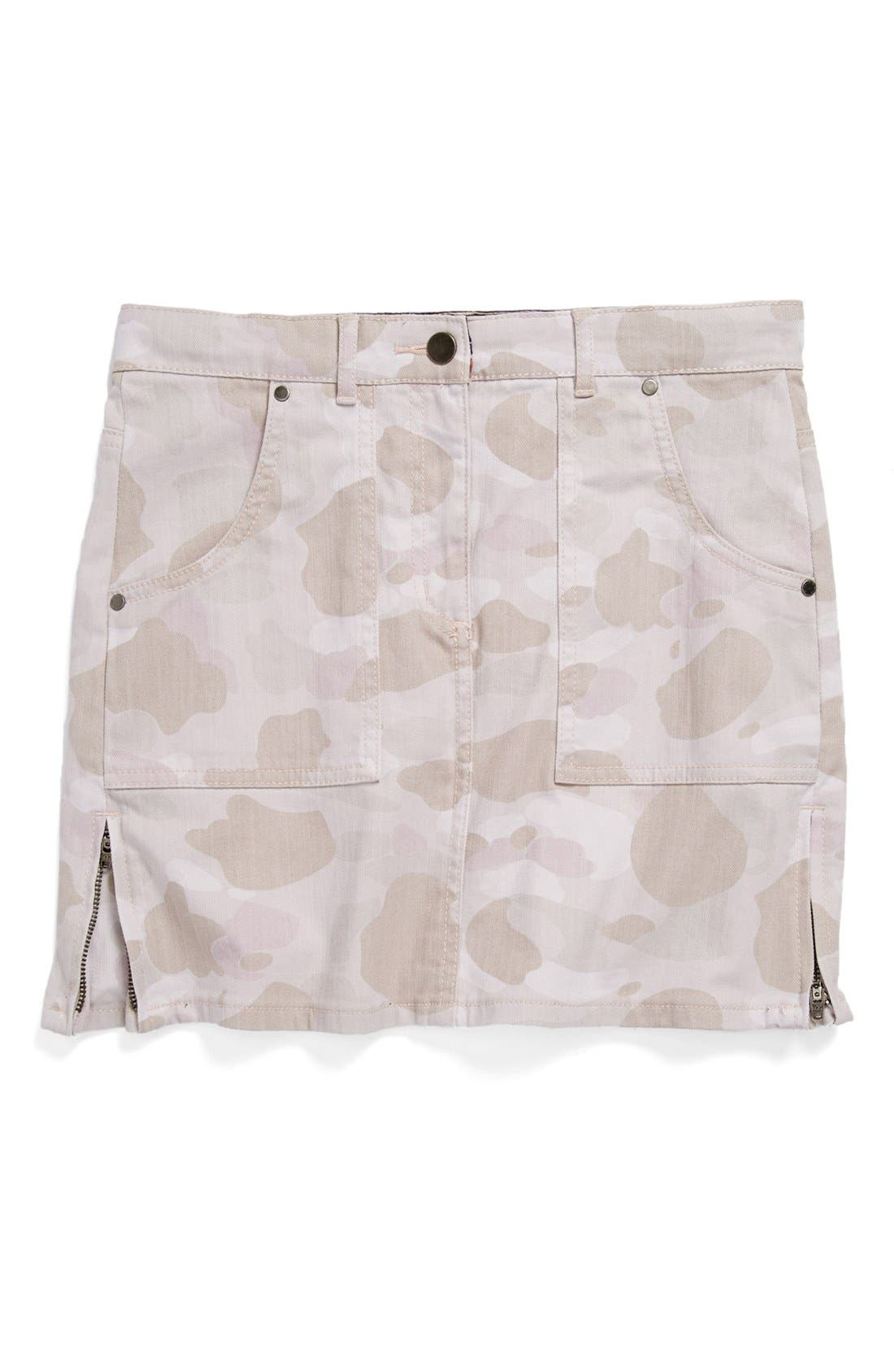 Main Image - Stella McCartney Kids 'Emmie' Camo Denim Skirt (Toddler Girls, Little Girls & Big Girls)