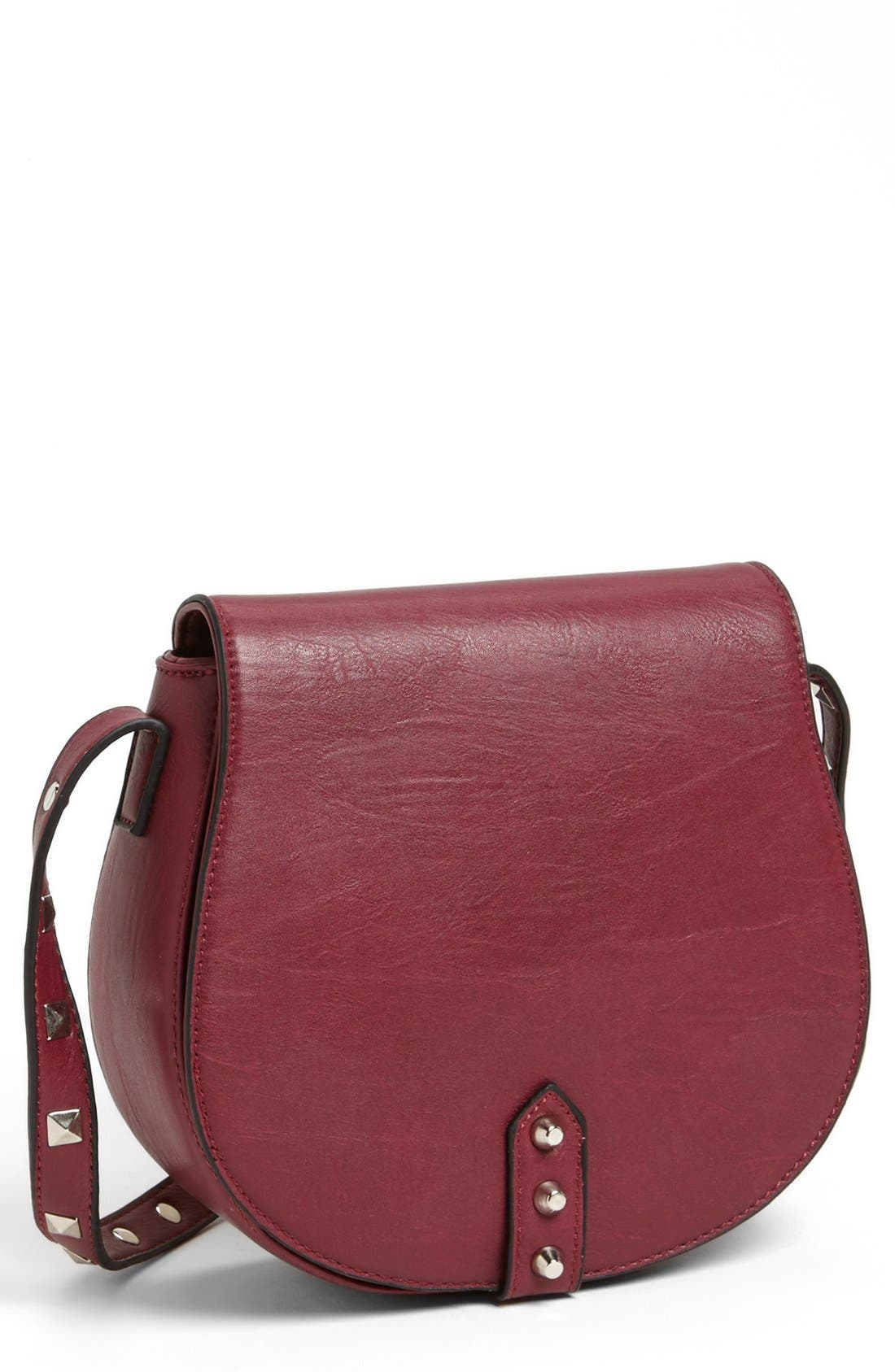 Alternate Image 1 Selected - Emperia Faux Leather Crossbody Bag (Juniors)