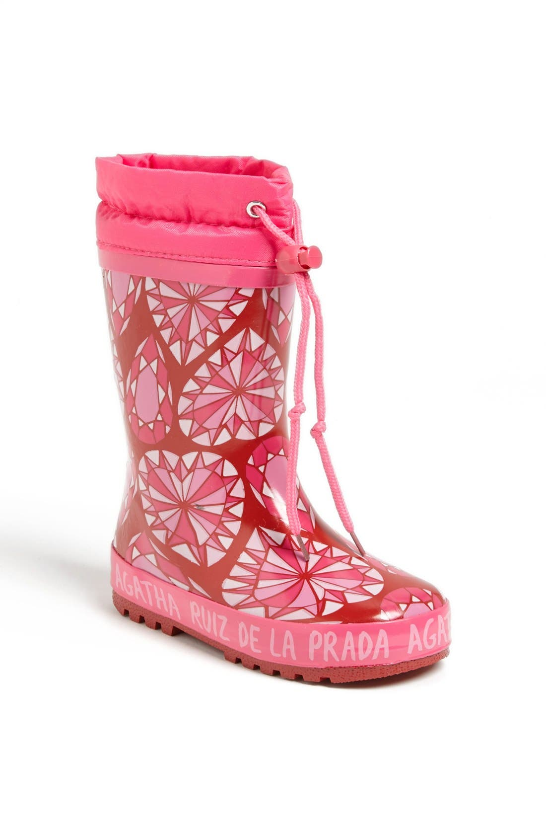 Alternate Image 1 Selected - Agatha Ruiz de la Prada 'Diamond' Rain Boot (Toddler, Little Kid & Big Kid)
