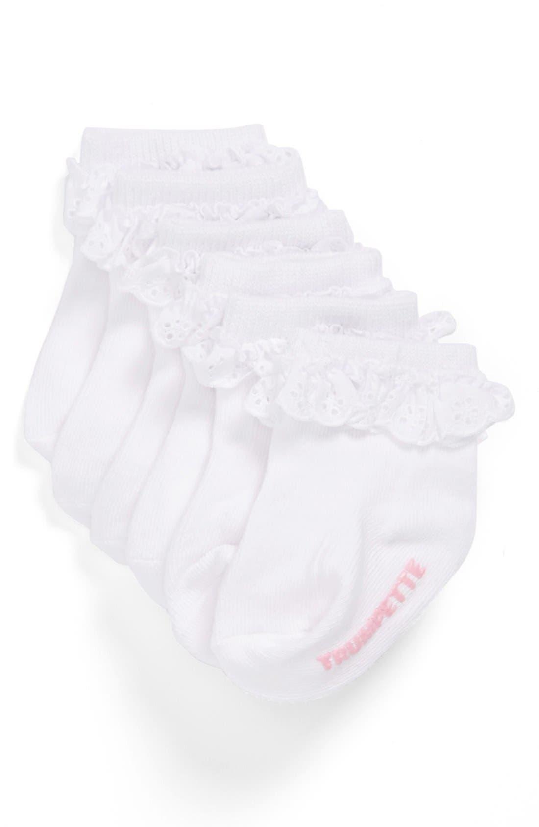 Main Image - Trumpette Ruffled Socks (3-Pack) (Baby Girls)