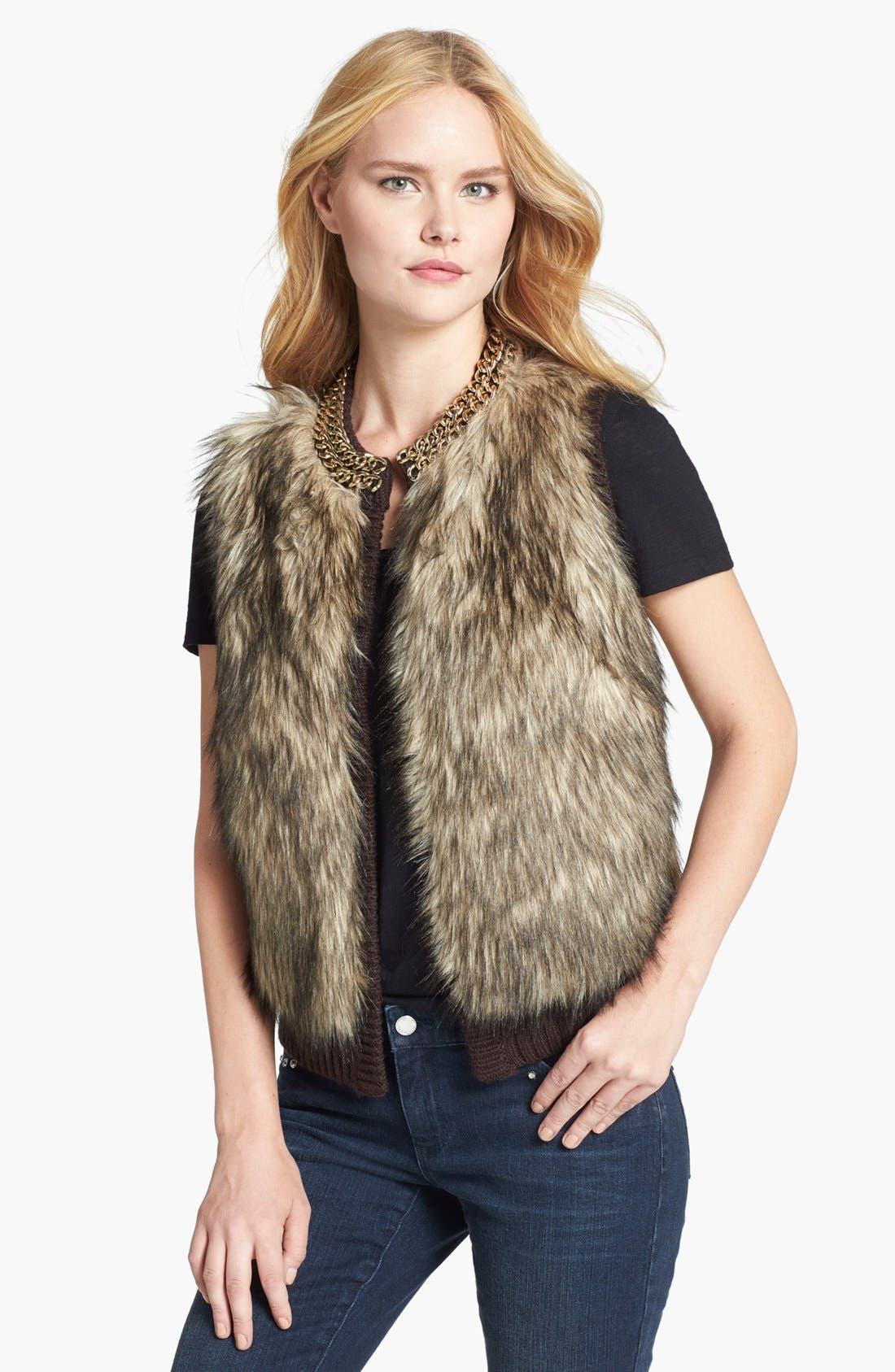 Alternate Image 1 Selected - MICHAEL Michael Kors Faux Fur Front Vest
