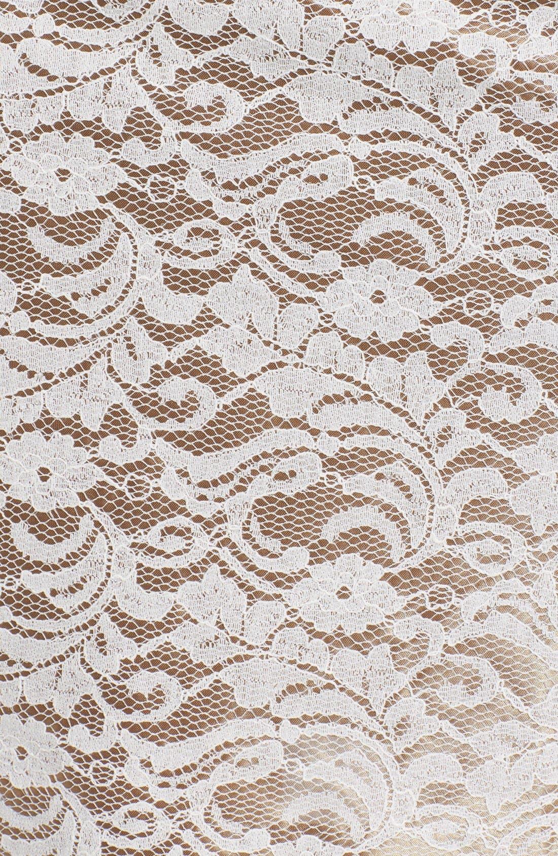 Alternate Image 3  - Eliza J Embellished One-Shoulder Lace Sheath Dress