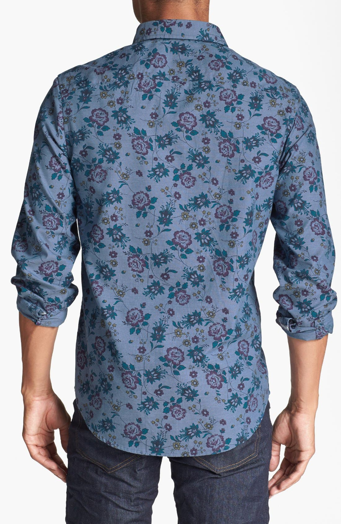 Alternate Image 3  - Original Penguin Floral Print Chambray Shirt