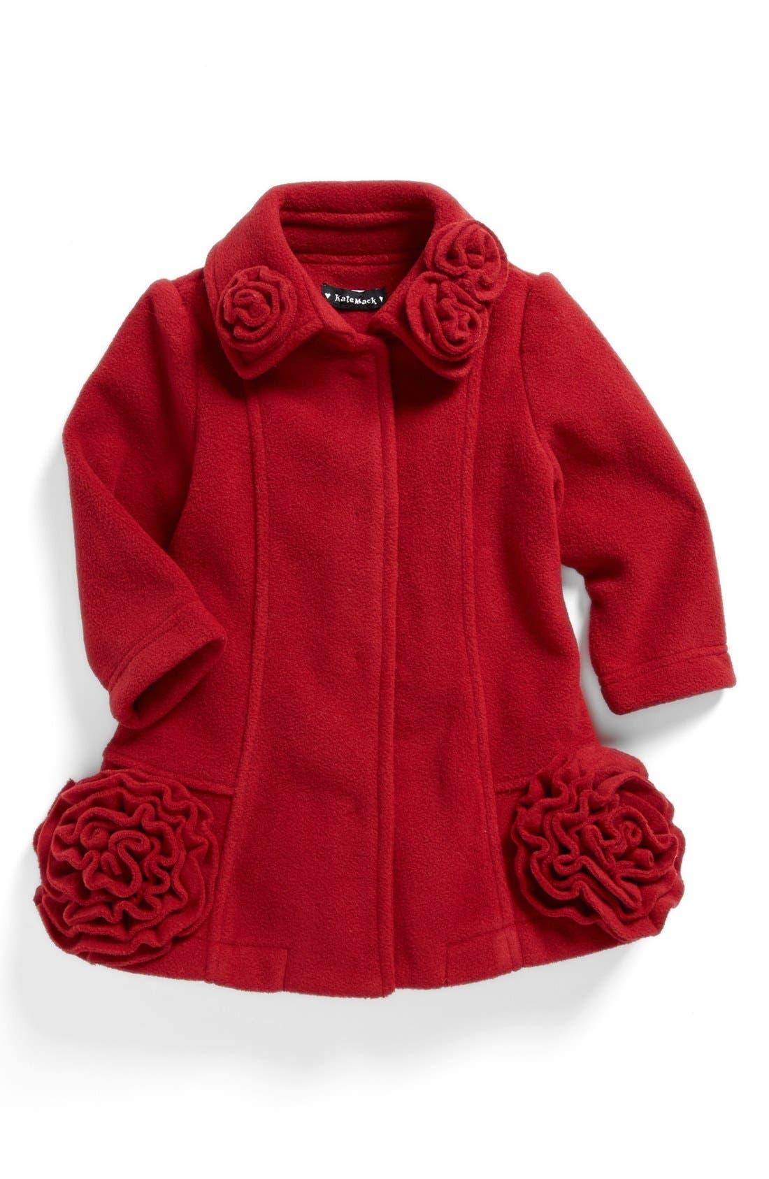 Alternate Image 1 Selected - Biscotti Fleece Coat (Baby Girls)