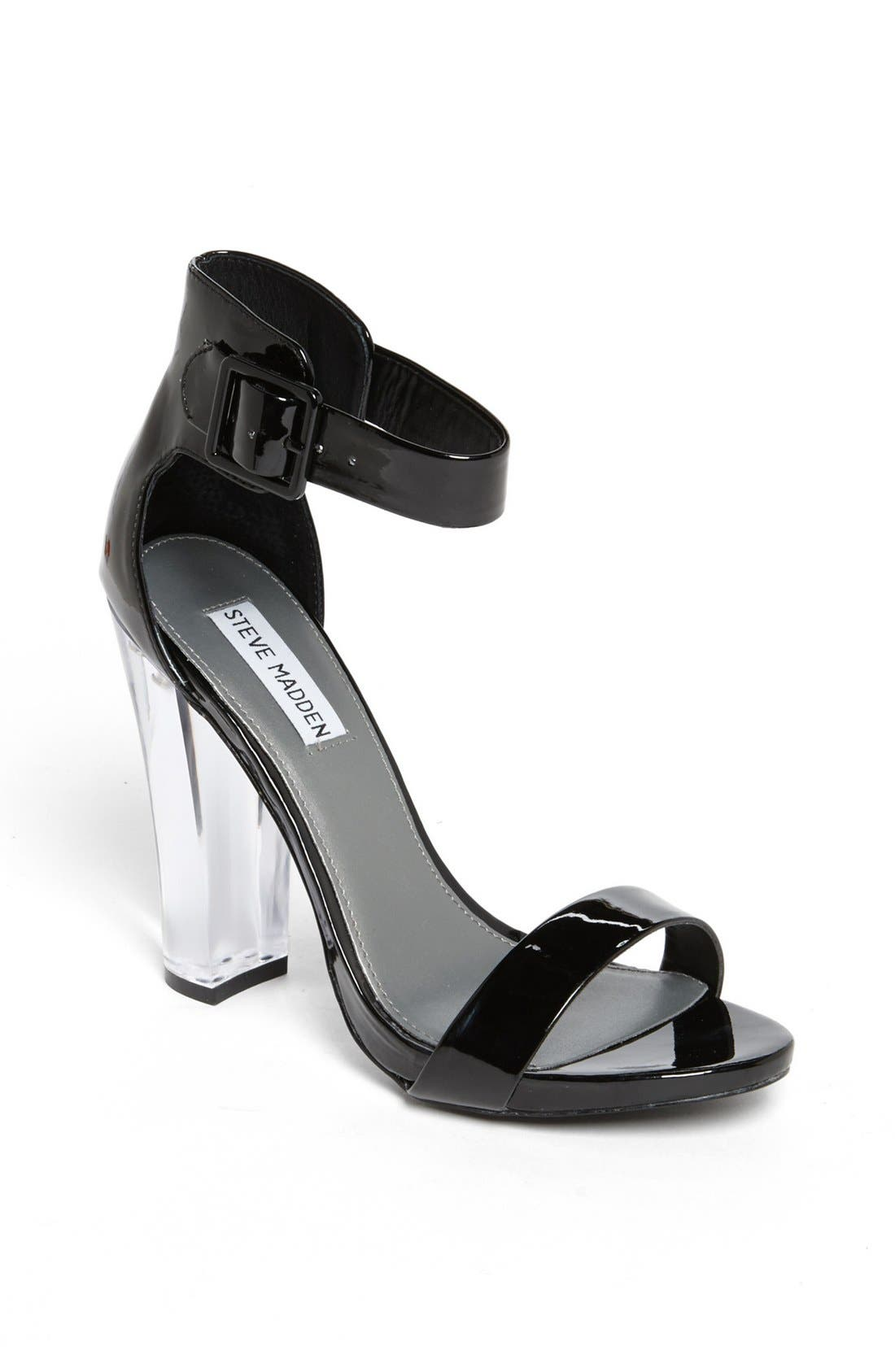 Alternate Image 1 Selected - Steve Madden 'Madame' Black Patent Sandal
