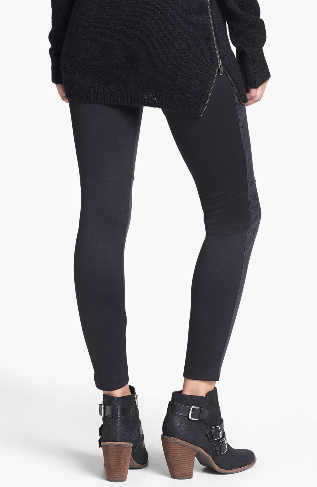Alternate Image 2  - Lily White Faux Leather Leggings (Juniors) (Online Only)