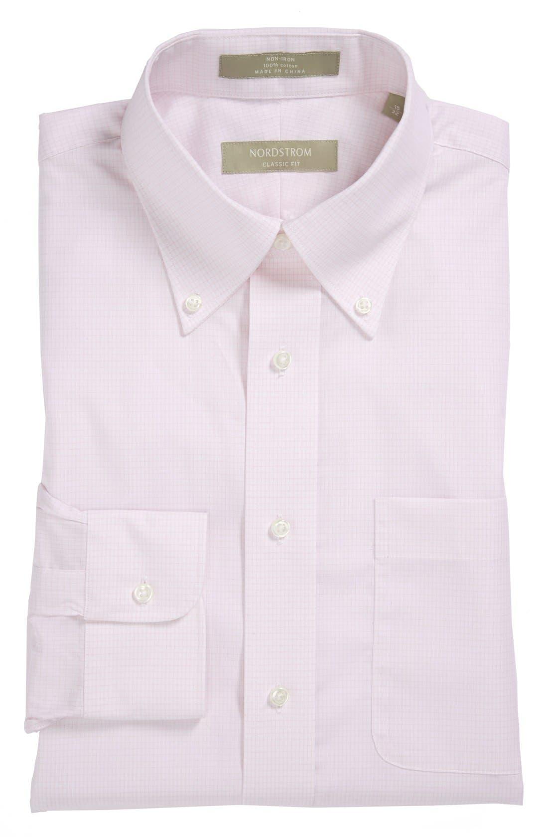 Main Image - Nordstrom Classic Fit Non-Iron Dress Shirt (Big & Tall)
