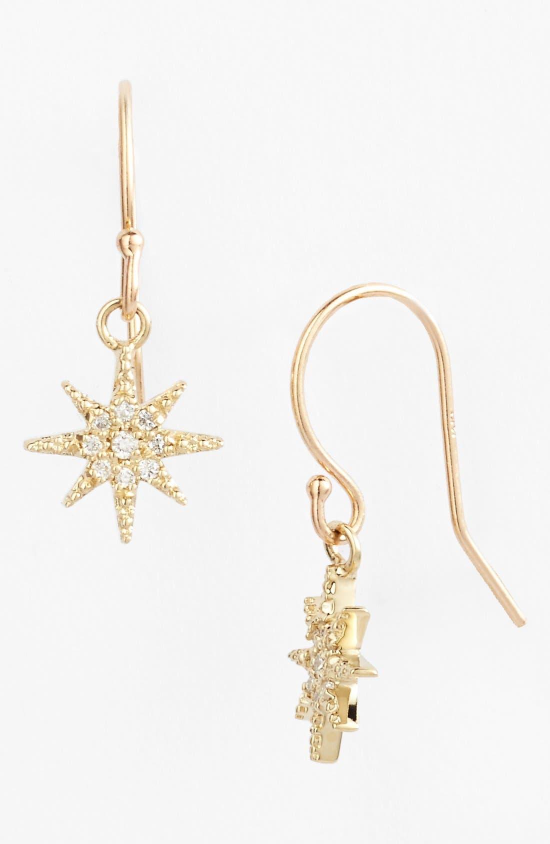 Main Image - Mizuki 'Icicles' Small Starburst Drop Earrings