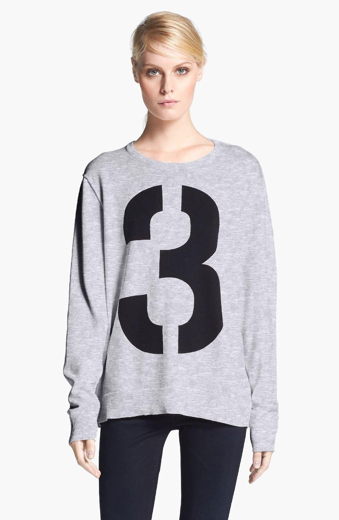 Alternate Image 1 Selected - rag & bone 'Numbers' Crewneck Sweatshirt