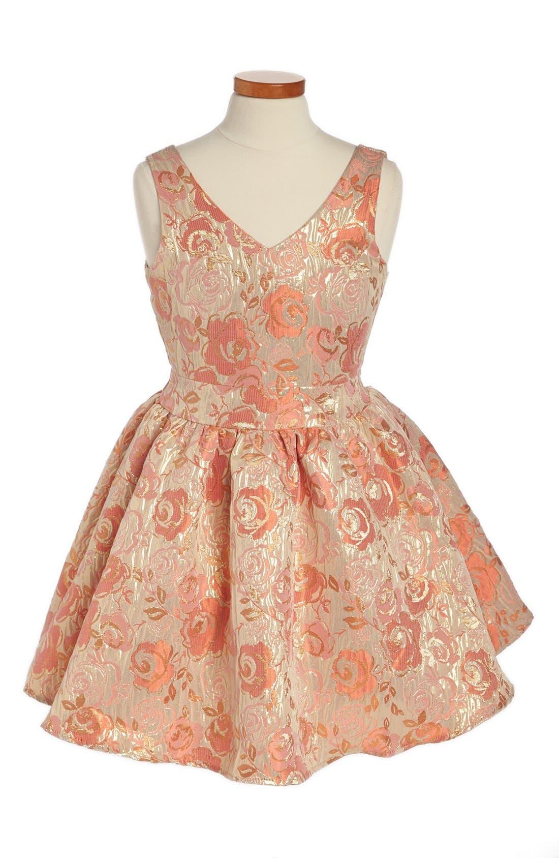 Alternate Image 1 Selected - Un Deux Trois Jacquard Dress (Big Girls)