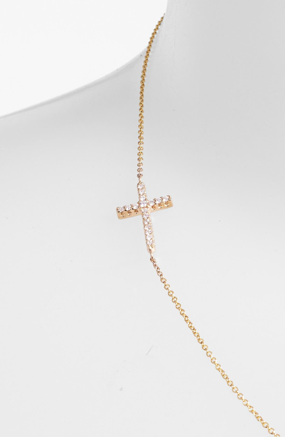 Alternate Image 2  - Mizuki Diamond Cross Station Necklace