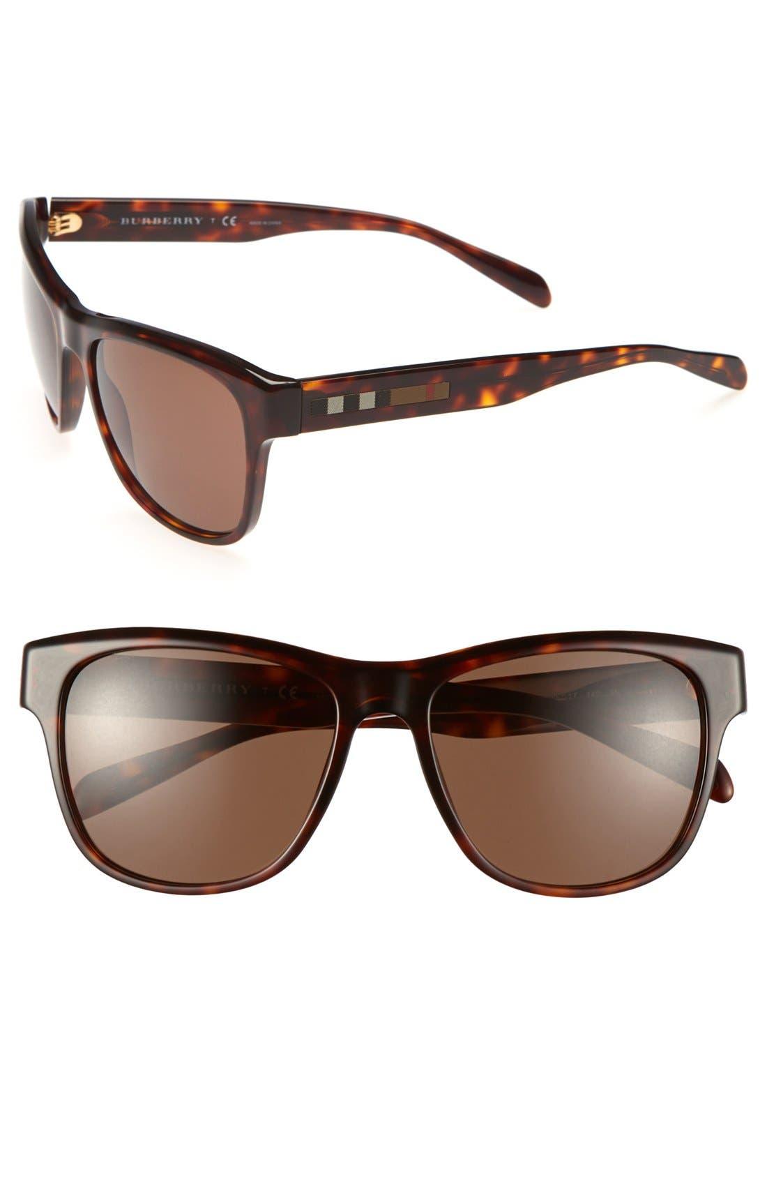 Alternate Image 1 Selected - Burberry 56mm Retro Sunglasses