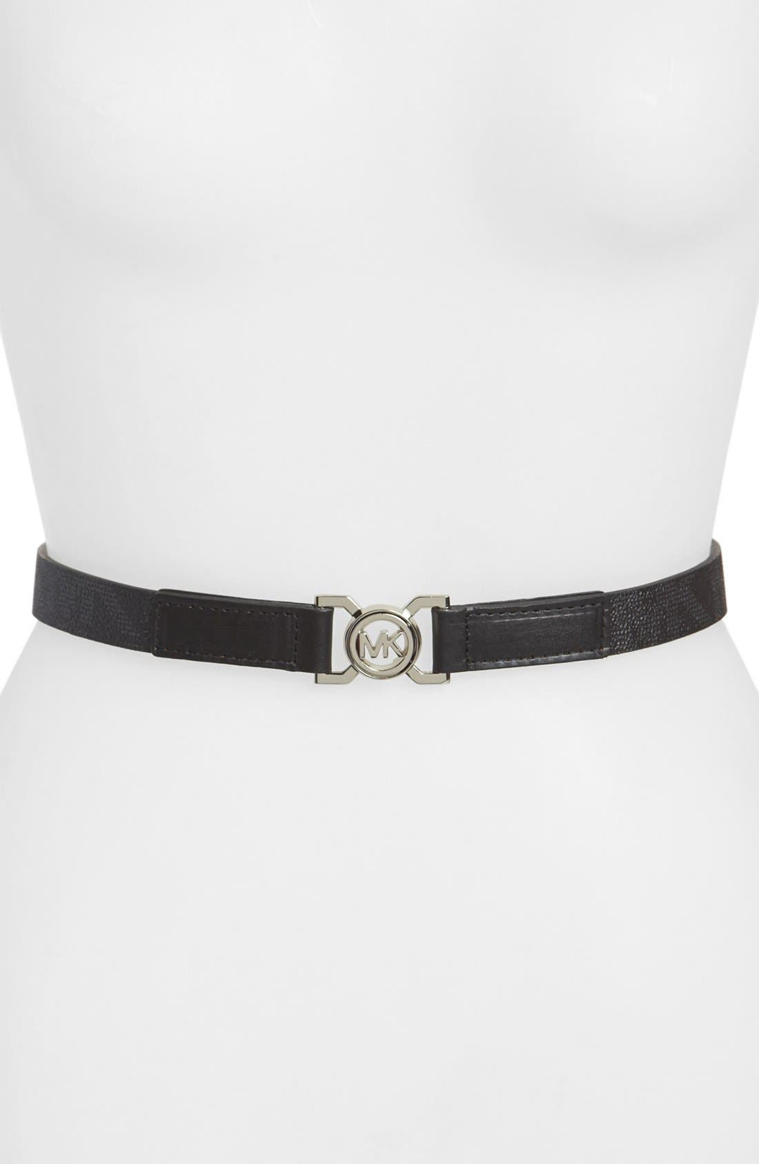 Main Image - MICHAEL Michael Kors Interlocking Logo Belt