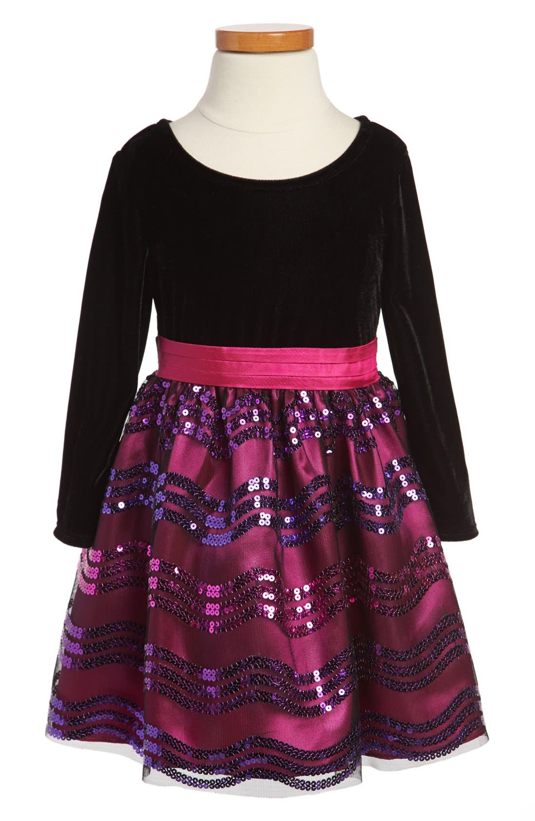 Main Image - Iris & Ivy Sequin Skirt Dress (Toddler Girls)