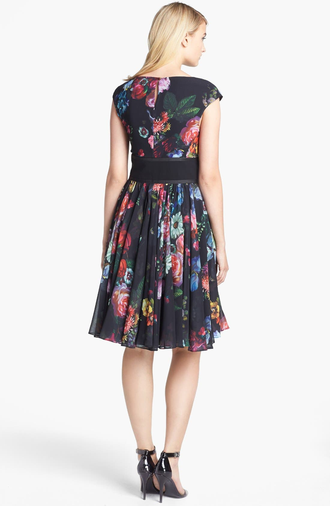 Alternate Image 2  - Ted Baker London 'Oil Painting' Print Fit & Flare Dress