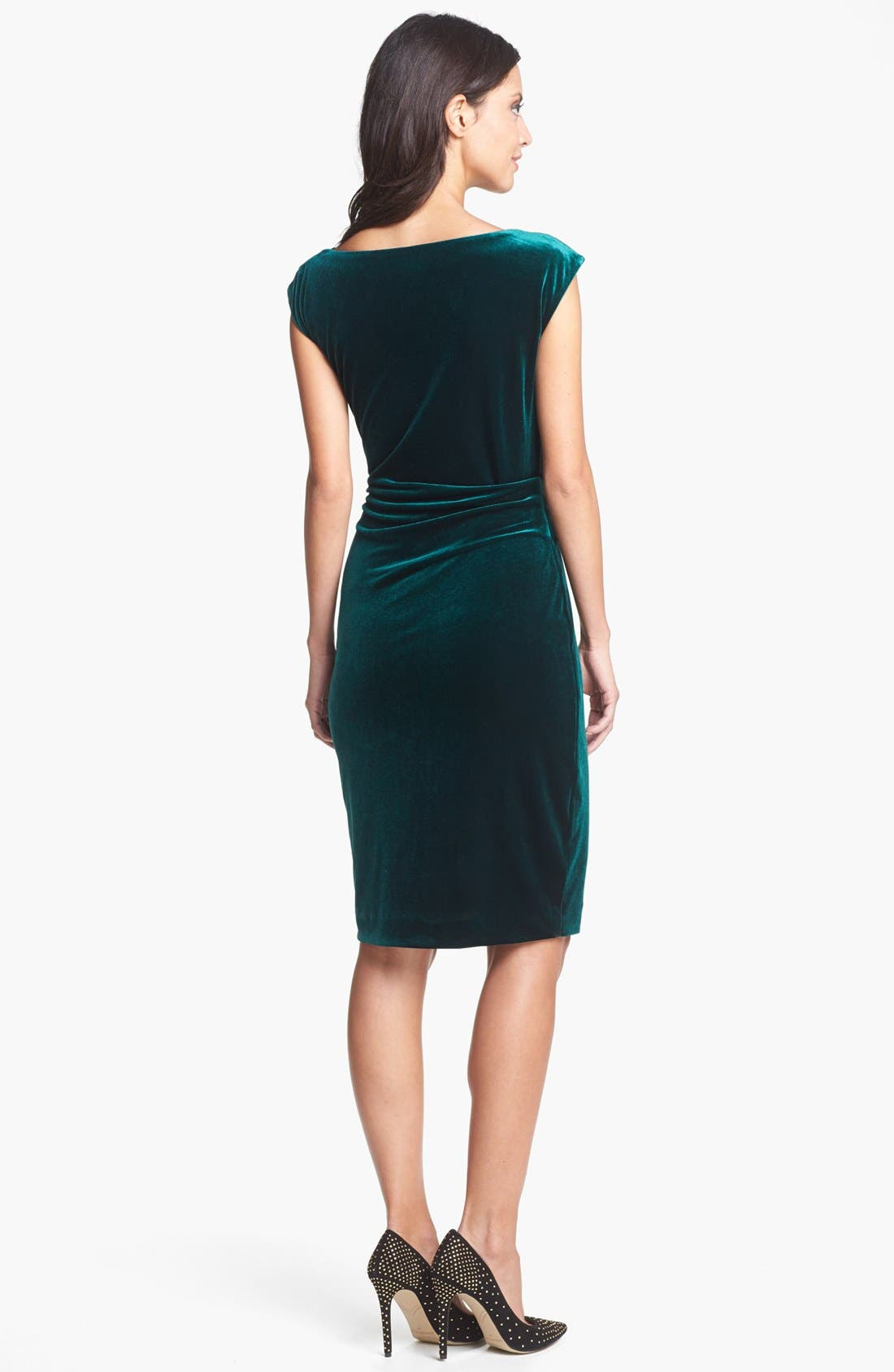 Alternate Image 2  - Vince Camuto Cowl Neck Velvet Dress