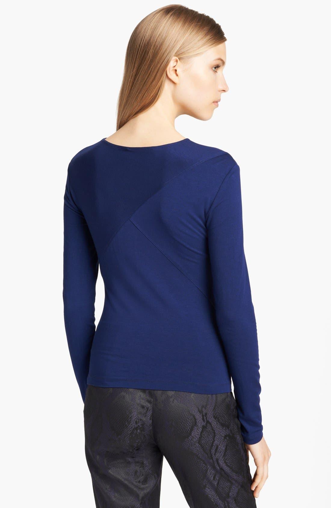 Alternate Image 2  - Donna Karan Collection Slash Neckline Jersey Top