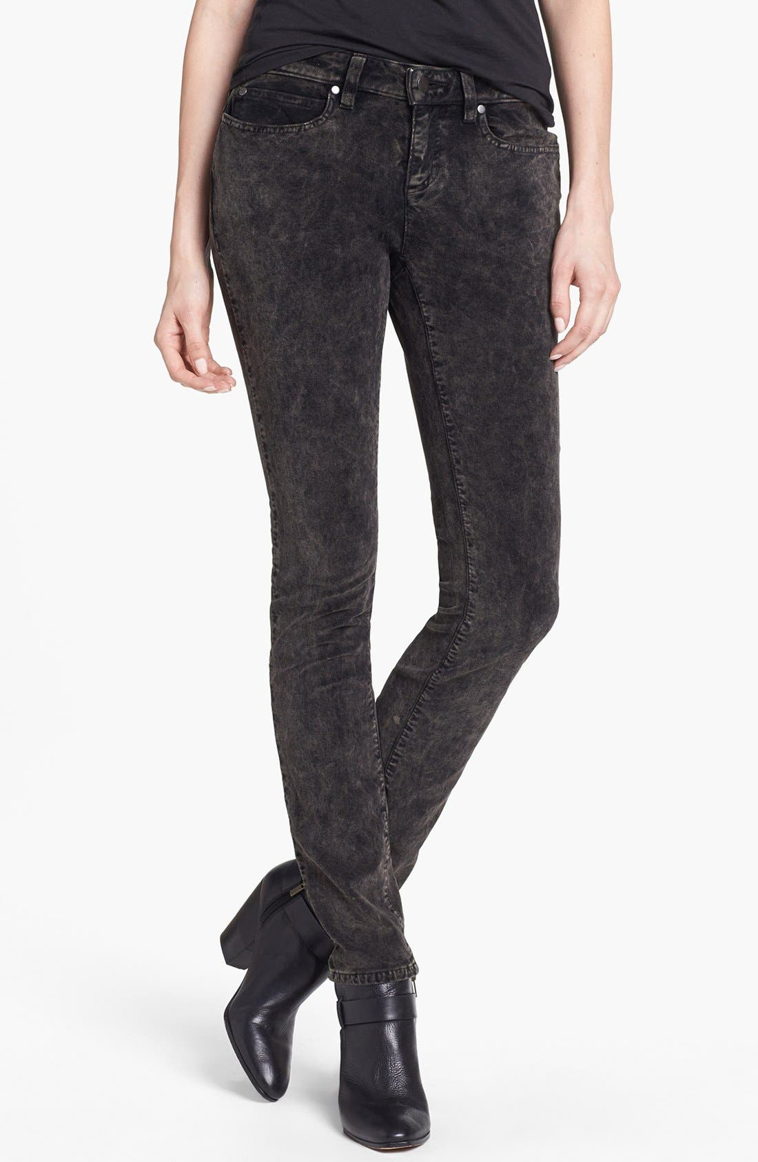 Main Image - Eileen Fisher Stretch Velveteen Skinny Jeans