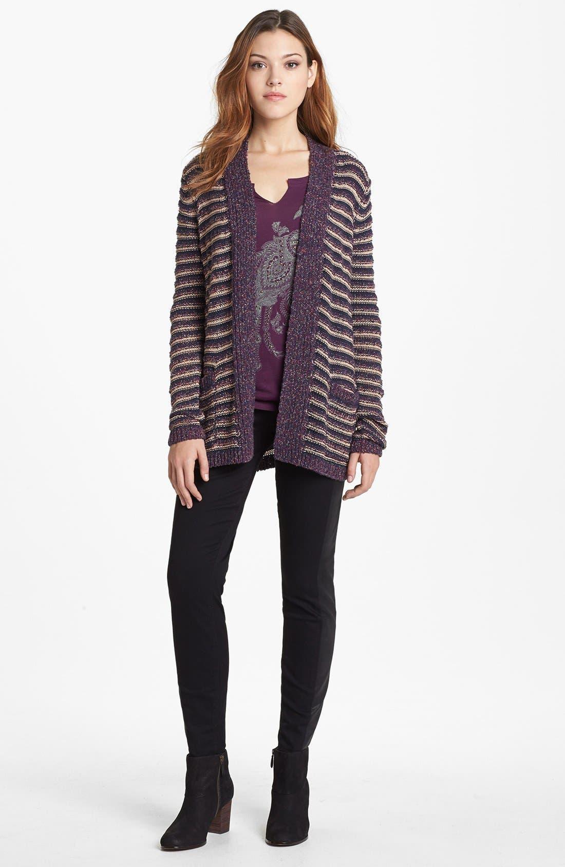 Alternate Image 4  - Lucky Brand 'Sofia' Tuxedo Detail Skinny Jeans (Jededia)
