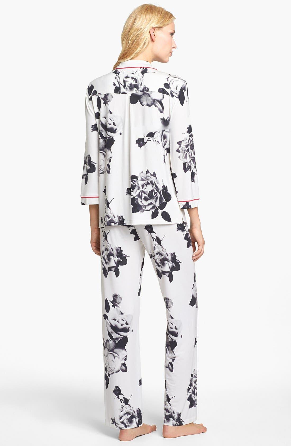 Alternate Image 2  - PJ Luxe 'Rose Noir' Pajamas