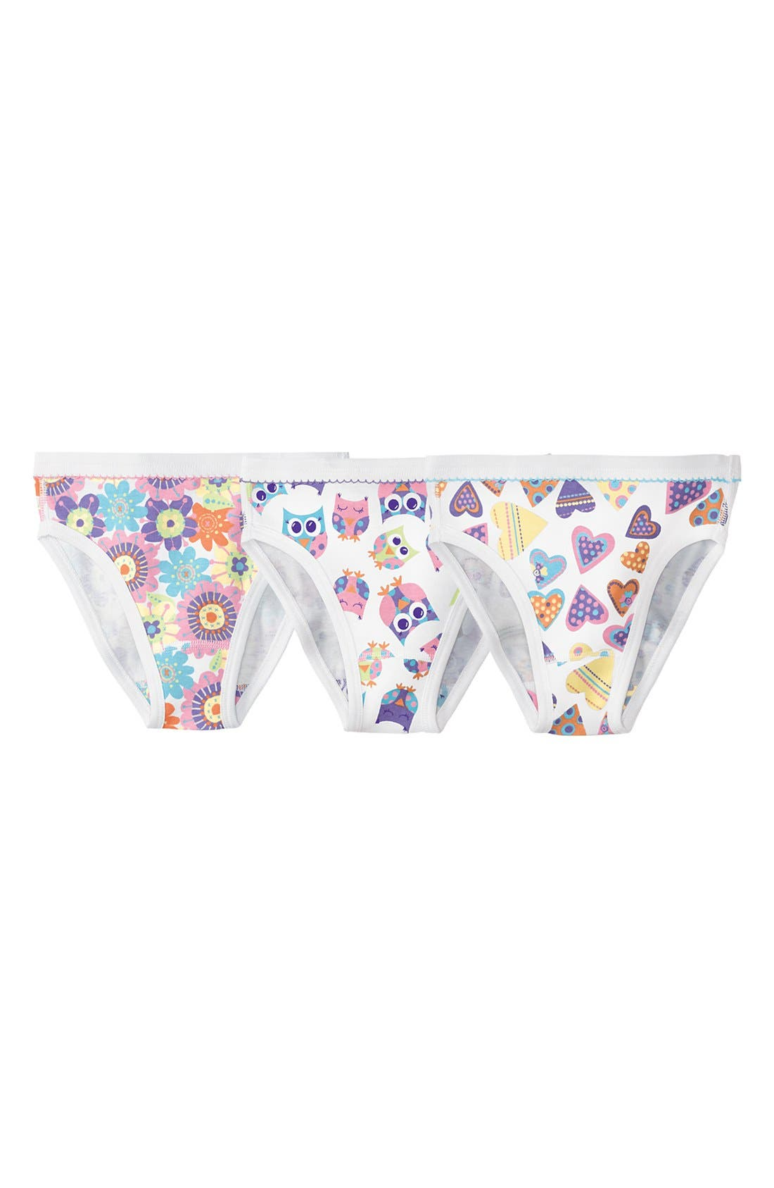 Alternate Image 1 Selected - Hanna Andersson Organic Cotton Hipster Briefs (3-Pack) (Little Girls & Big Girls)