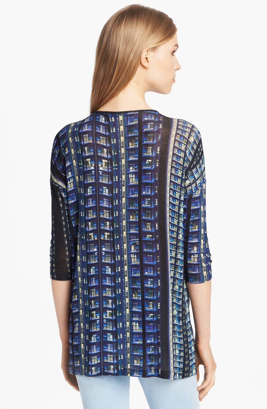 Alternate Image 2  - Mary Katrantzou Print V-Neck Sweater