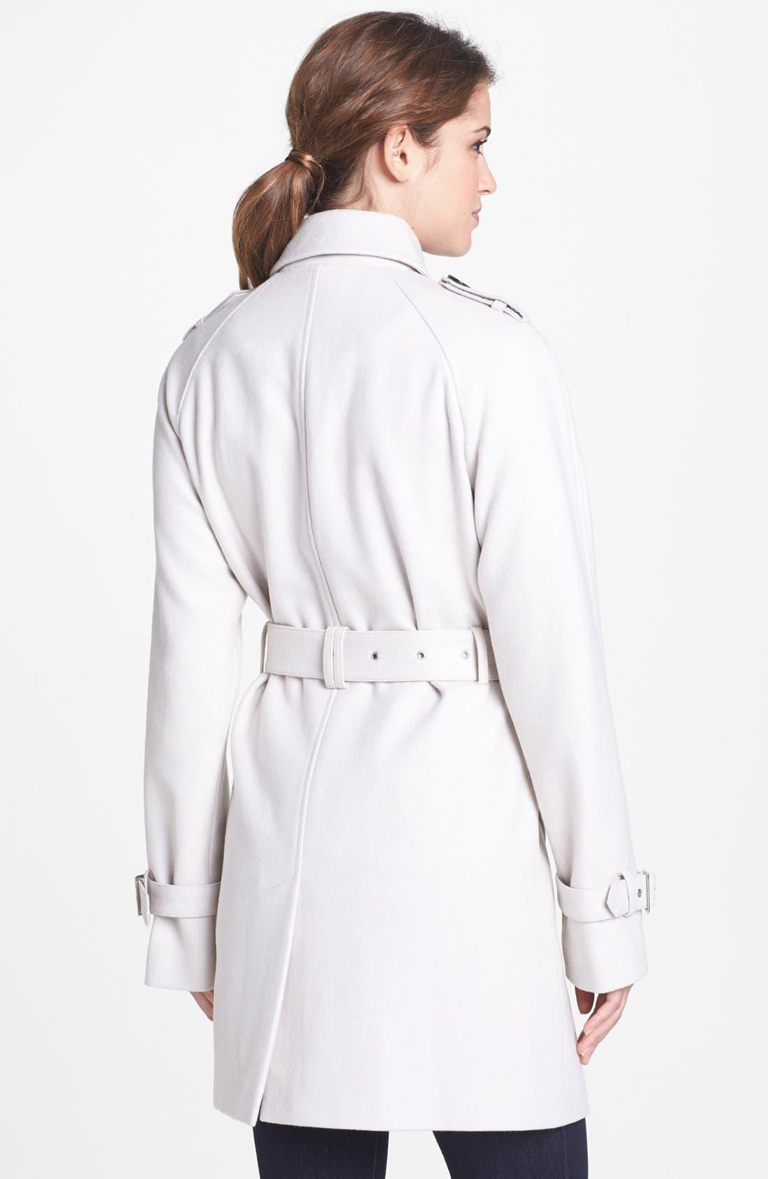 Alternate Image 2  - Calvin Klein Wool Blend Trench Coat