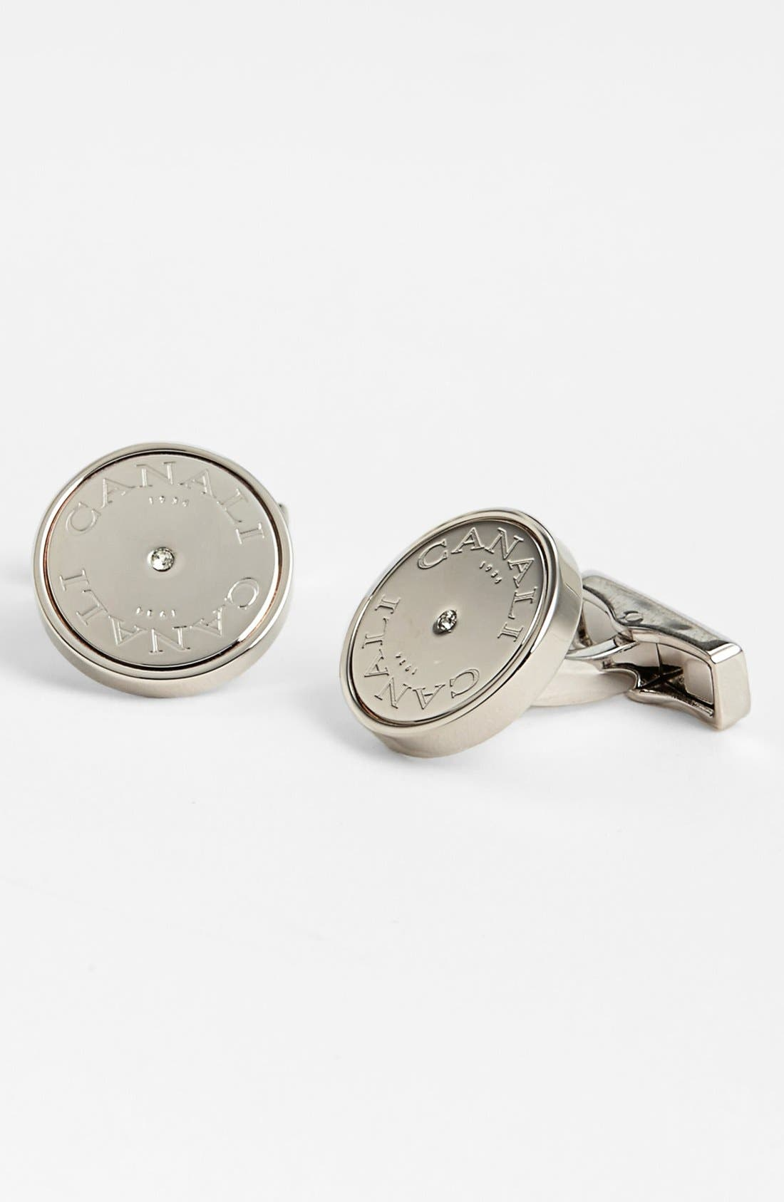 Main Image - Canali Round Crystal Cuff Links