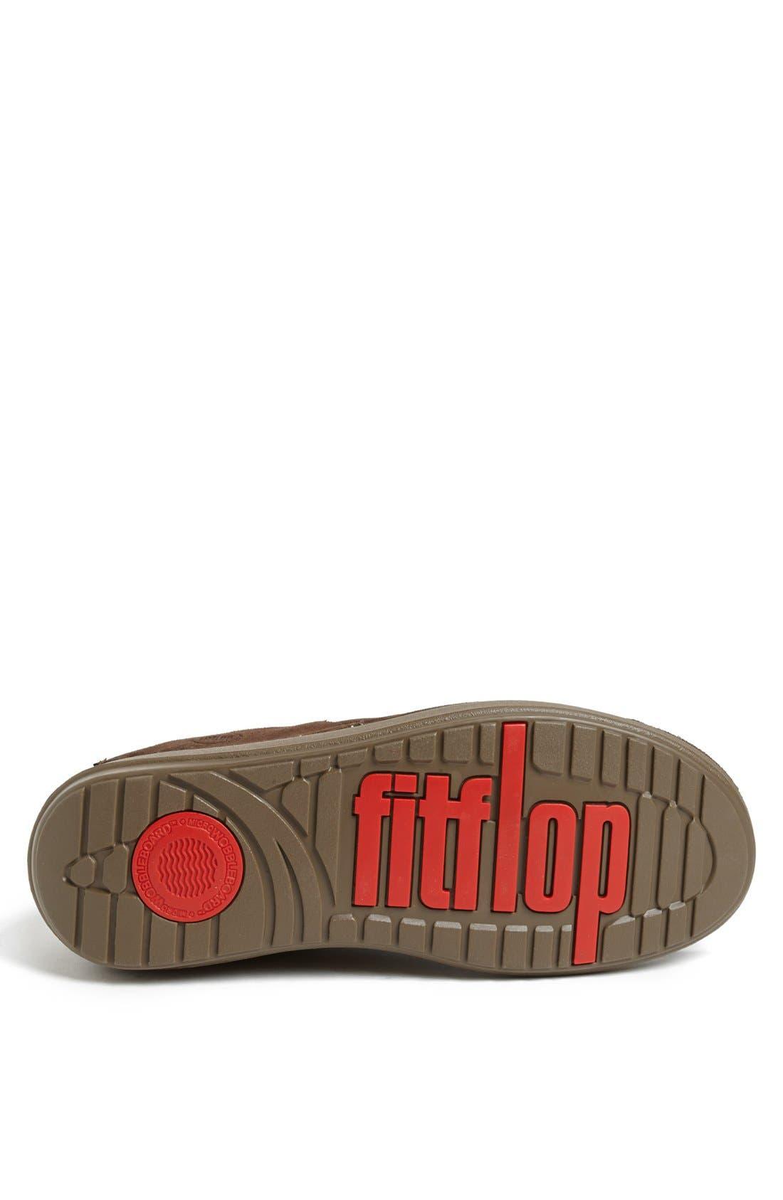 Alternate Image 4  - FitFlop 'Flex™' Suede Sneaker (Men)