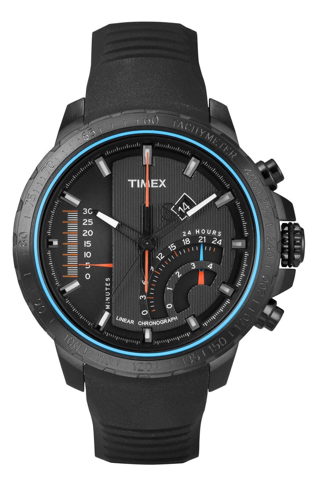 Main Image - Timex® 'Intelligent Quartz' Linear Chronograph Watch, 47mm