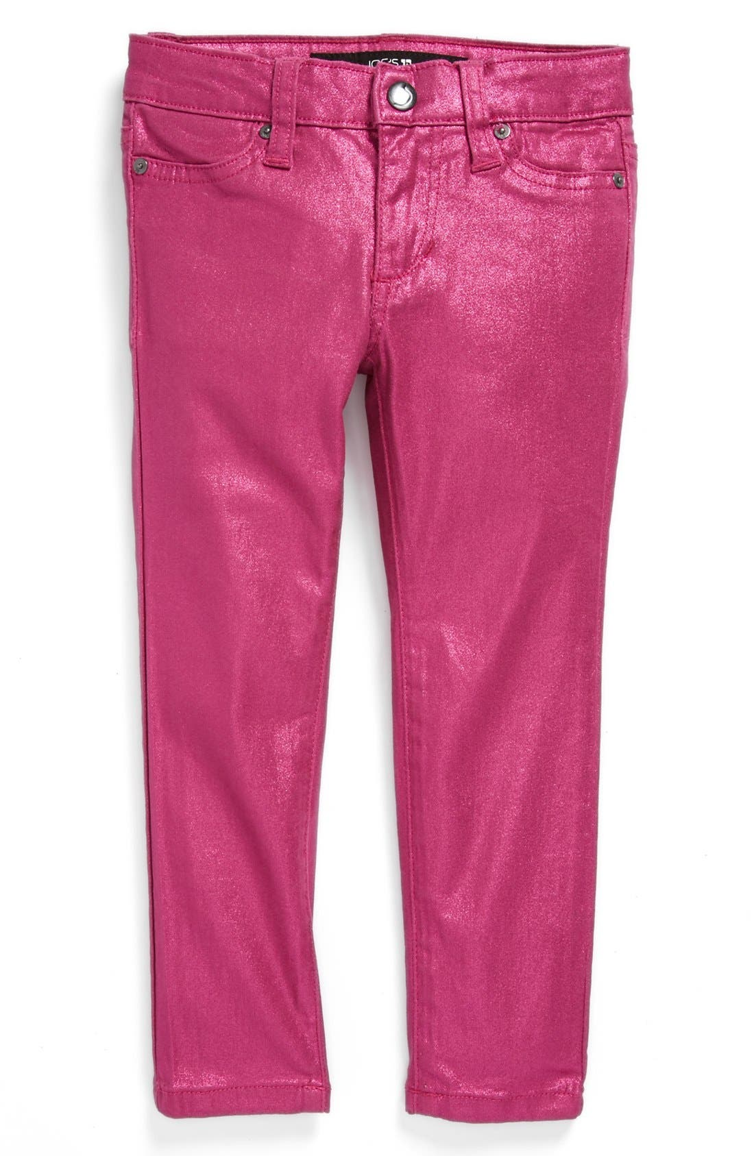 Alternate Image 2  - Joe's Metallic Skinny Denim Jeans (Toddler Girls)